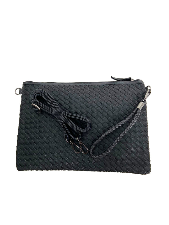 Black Clutch Bag with sling strap 1226