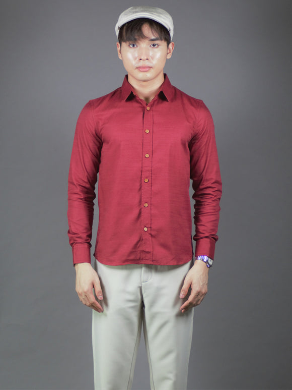 Long Sleeve Shirt (Burgundy) 1531