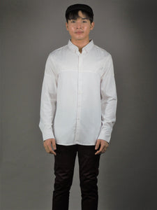 Long Sleeve Shirt (White) 1556