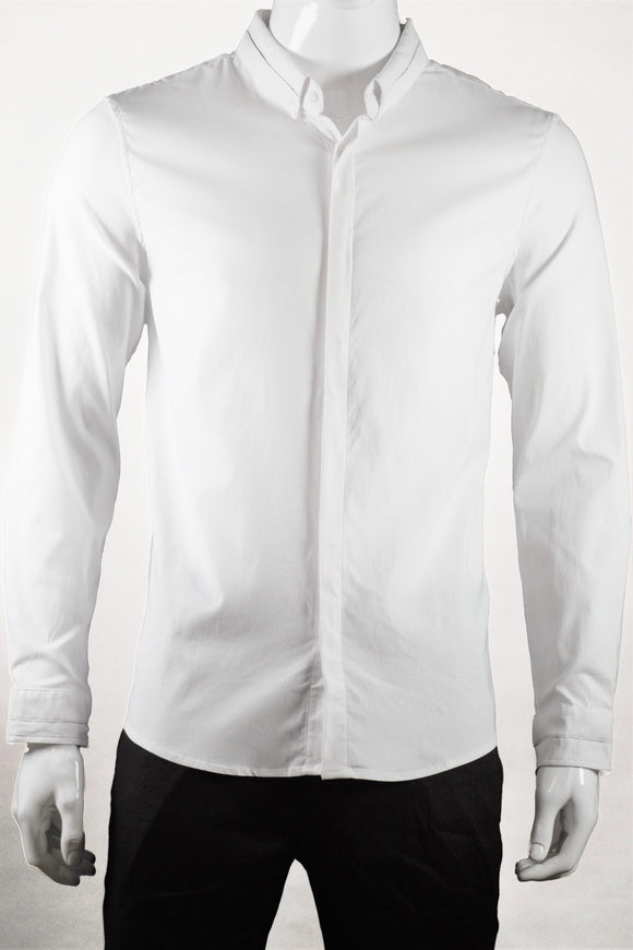 Long Sleeve Shirt (White) 1557