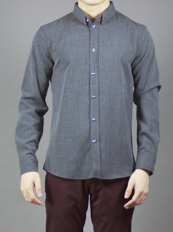 Long Sleeve Shirt (Charcoal) 1638