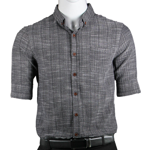 3/4 Sleeve Shirt with Pattern (Charcoal) 1675