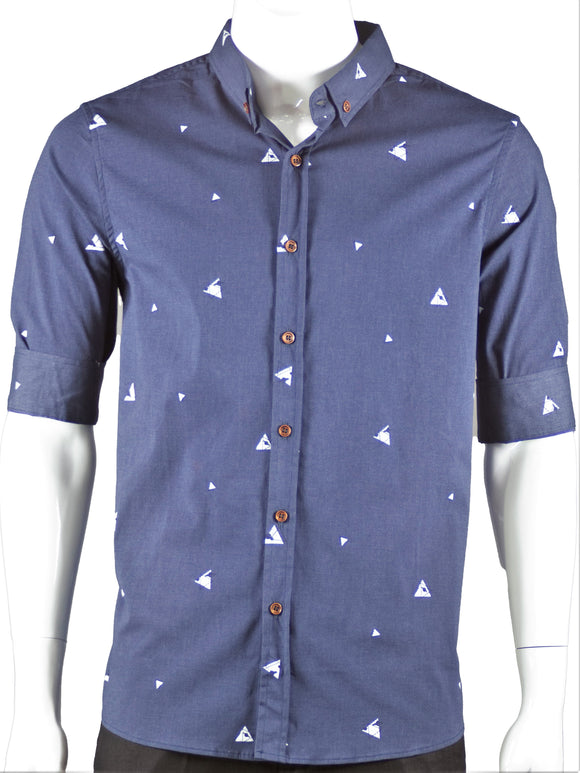 3/4 Sleeve Shirt (Navy) 1689