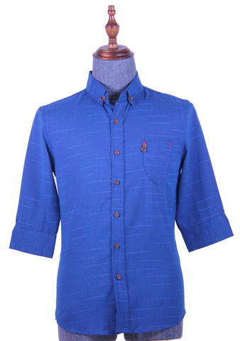 3/4 Sleeve Shirt Pattern (Blue) 1729
