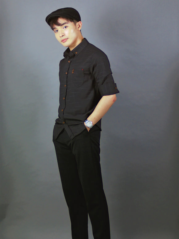 3/4 Sleeve Shirt Pattern (Black) 1729