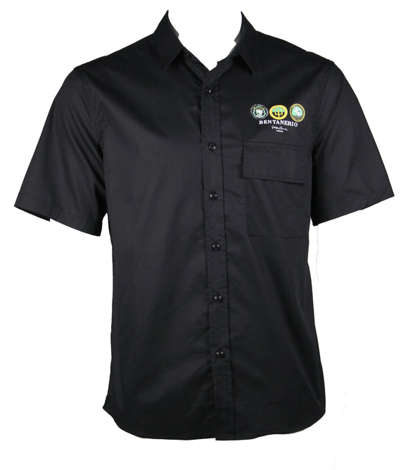 Over-sized Short Sleeve Shirt (Black) 1752