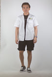 Over-sized Short Sleeve Shirt (White) 1752