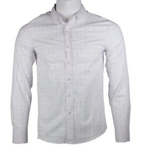 Long Sleeve Checkered Designed (White)1755