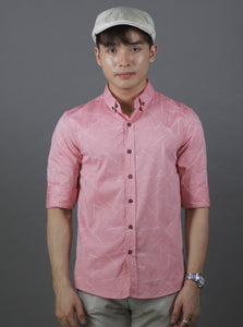 3/4 Simple design Shirt (Pink) 1777