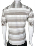 3/4 Sleeve Designed Shirt (CHARCOAL) 1784