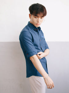 3/4 Plain Shirt (Navy) 1794