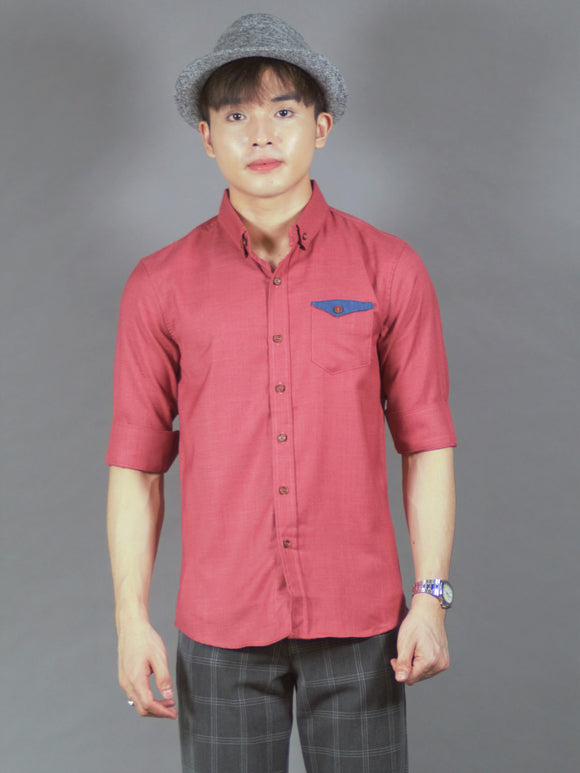 3/4 Plain Shirt (Red) 1797