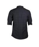 3/4 Checkered Shirt (Navy) 1818
