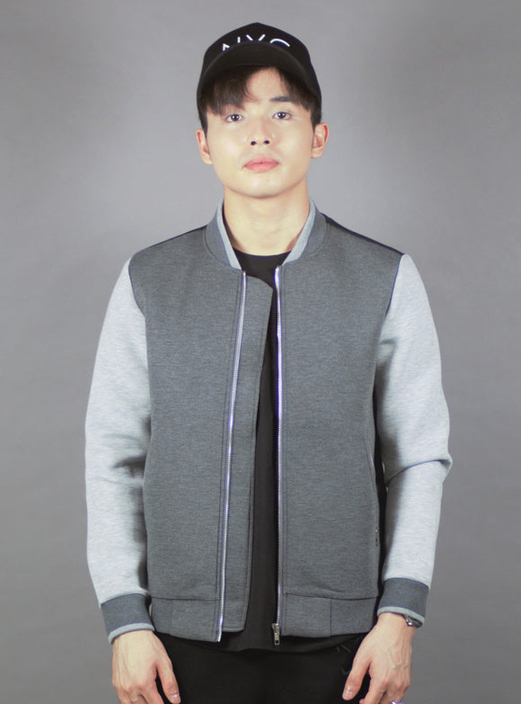 Bomber Jacket with (Charcoal) 2190