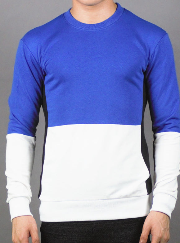 Plain Designed Pullover (BLUE) 2212