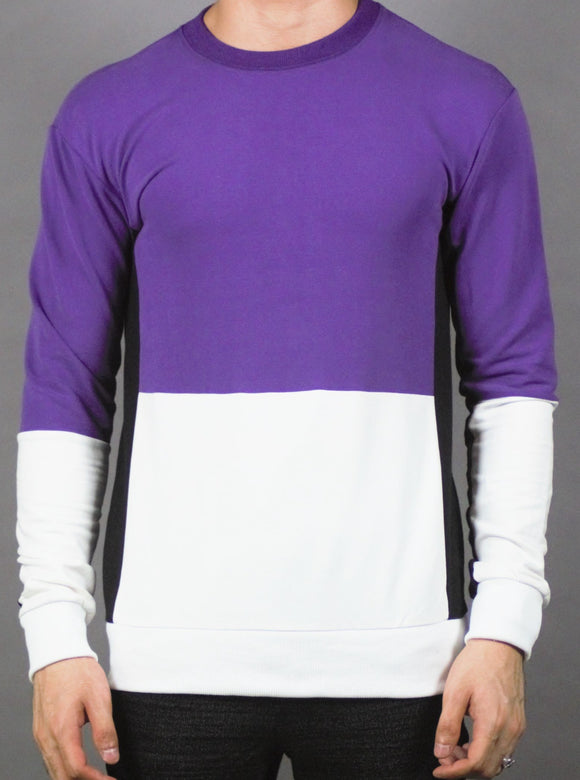 Plain Designed Pullover (PURPLE) 2212
