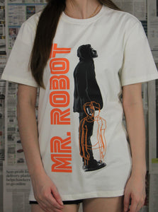 """MR ROBOT"" PRINTED T-Shirt (White) 2261"