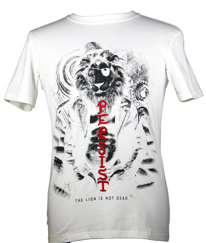 """The Lion Is Not Dead"" PRINTED T-Shirt (White) 2306"