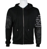 Hoodie Zip Jacket with Camou design (Black) 2357