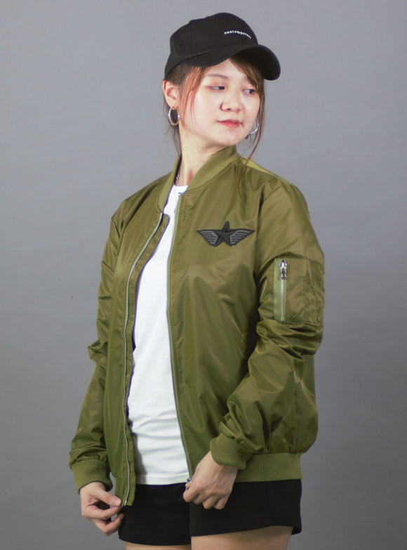Lightweight Bomber Jacket (Green) 2362