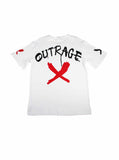 Outrage Oversized T-Shirt (White) 2511