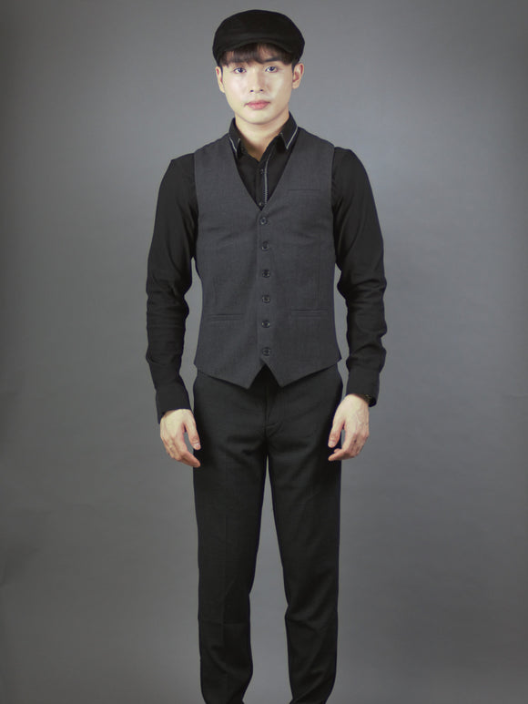 Men formal Vest 4230 (Dark grey)