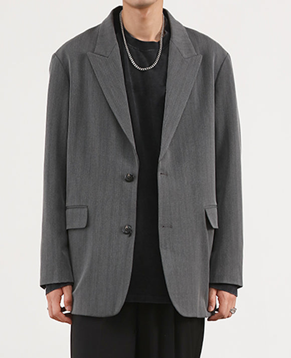 Oversize - Blazer (Dark Grey) 5505