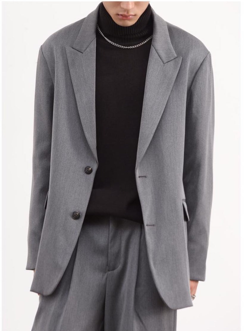 Oversize - Blazer (Dark Grey) 5508