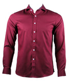 Long Sleeve Classic Plain Shirt (Maroon) 6807