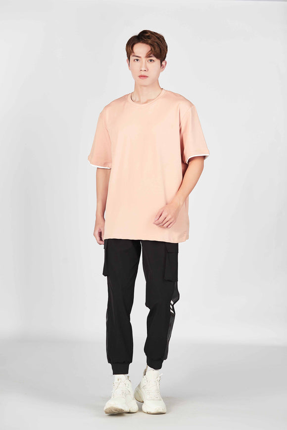 Plain Basic Oversized T-Shirt (Pink) 2547