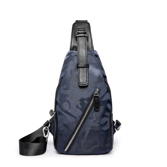 Navy Blue Camou Designed Cross body Bag (7726)