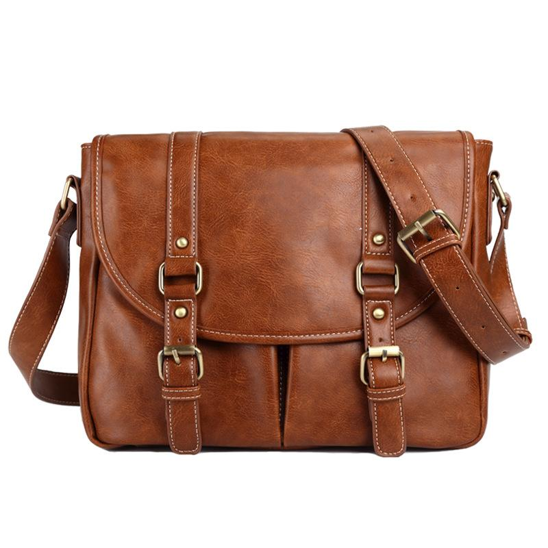 Faux Leather Brown Sling Bag 7705
