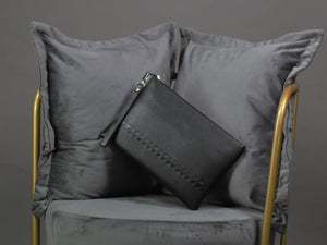 Black Simple Clutch Bag 8003