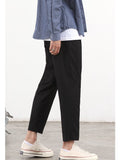 Slim Fit Pants (Black) 9830