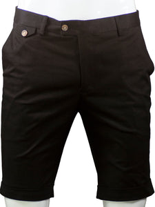 Slim-fit chino shorts in (Black) 995