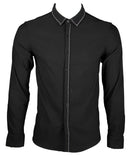 Simple Classic Long Sleeve Shirt (Black) 1655