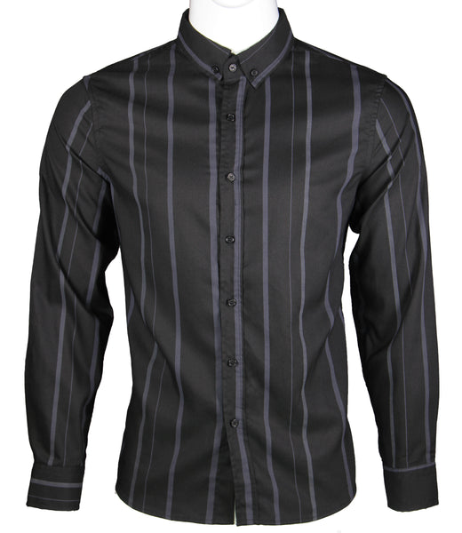 Long Sleeve Strips Shirt (Black) 1658