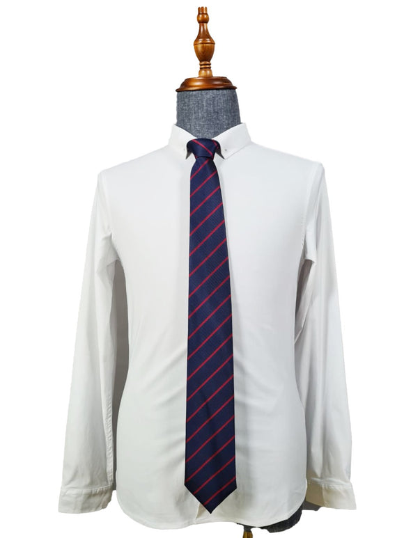 Classic Tie 005 (Blue-red striped)