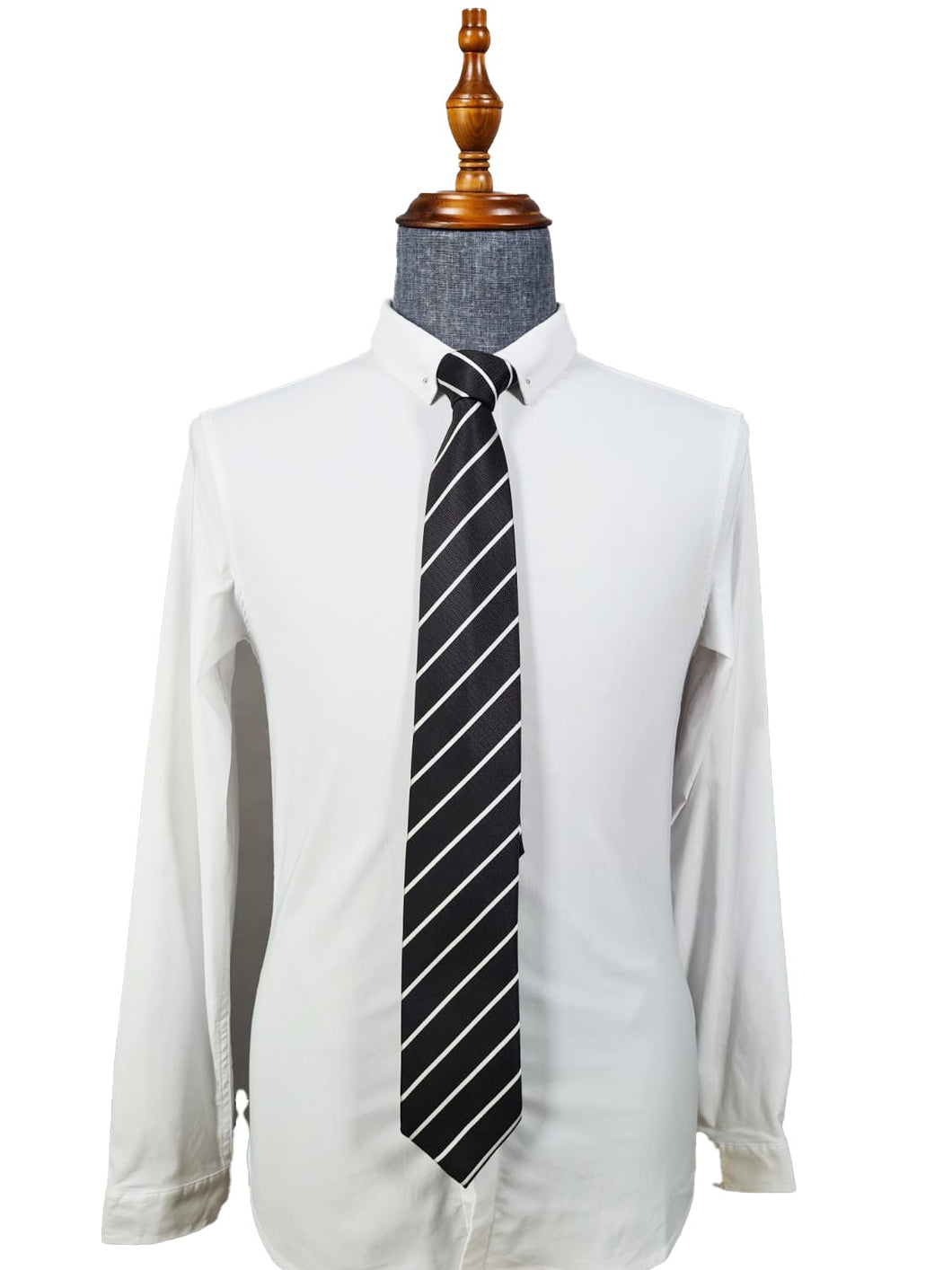 Classic Tie 012 (Black-striped)