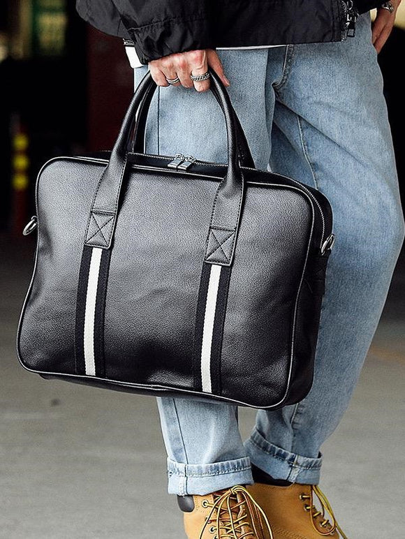 Black Messenger bag with handle 4928