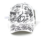 Graphic design baseball cap (White)