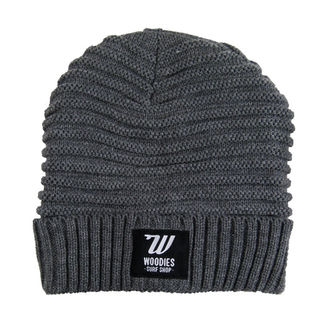 Braided Fleece Lined Beanie - Grey