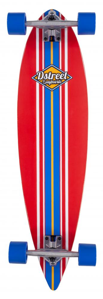 D Street Ocean Long Skateboard - Red - 35 inch - (PICK UP ONLY)