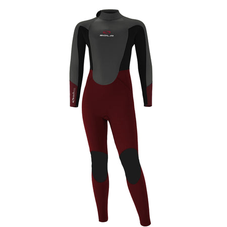 Sola Kids Fire 5/4 Winter Wetsuit Grey/Burgundy