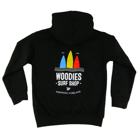 Kids 3 Boards Logo Hoody - Black