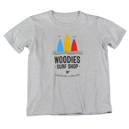 Kids 3 Boards Logo Tee - Marl Grey