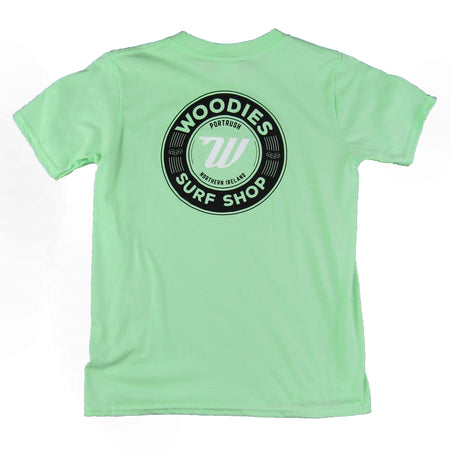 Kids Retro Logo Tee - Mint Green