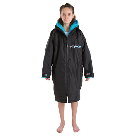 Dryrobe Advance Kids Long Sleeve - Black & Blue
