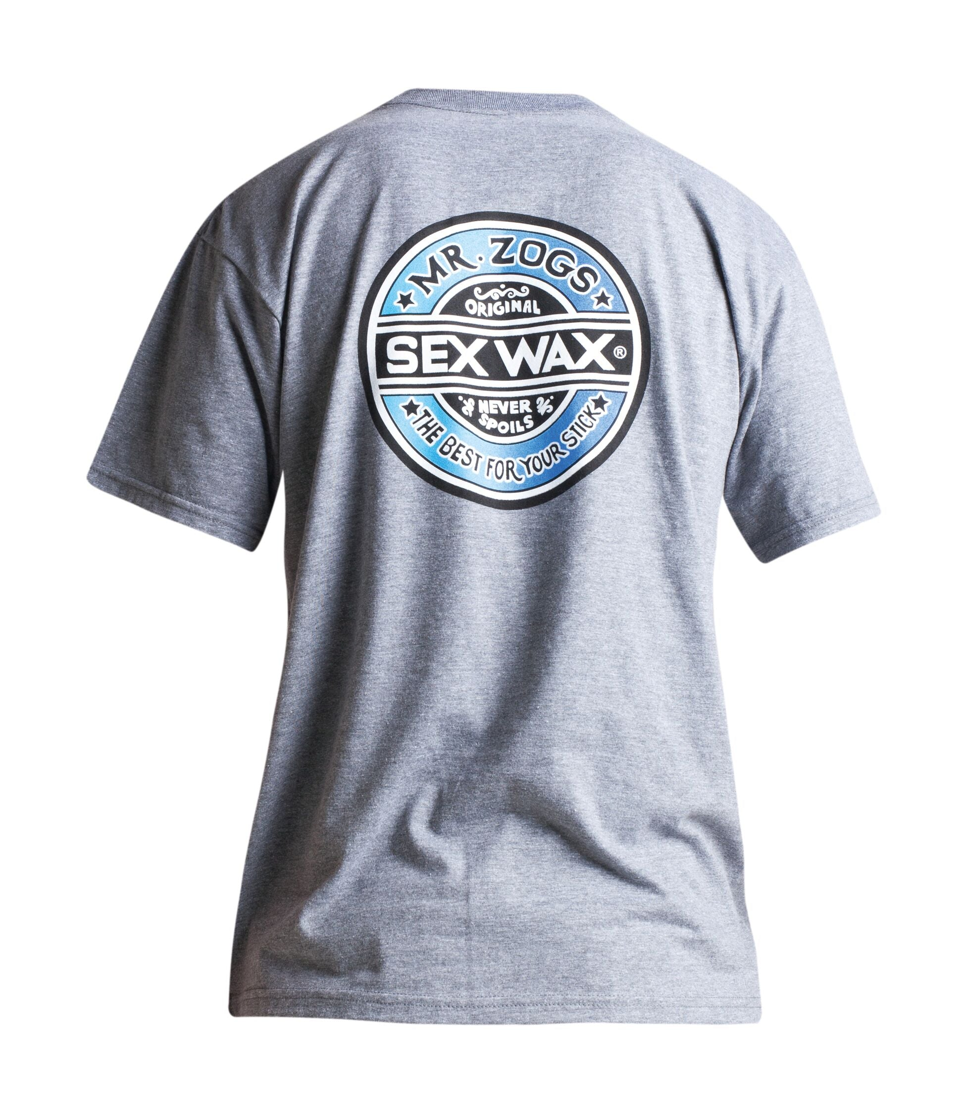 Mr Zogs Sex Wax T-Shirt - The Fade - Grey Marl