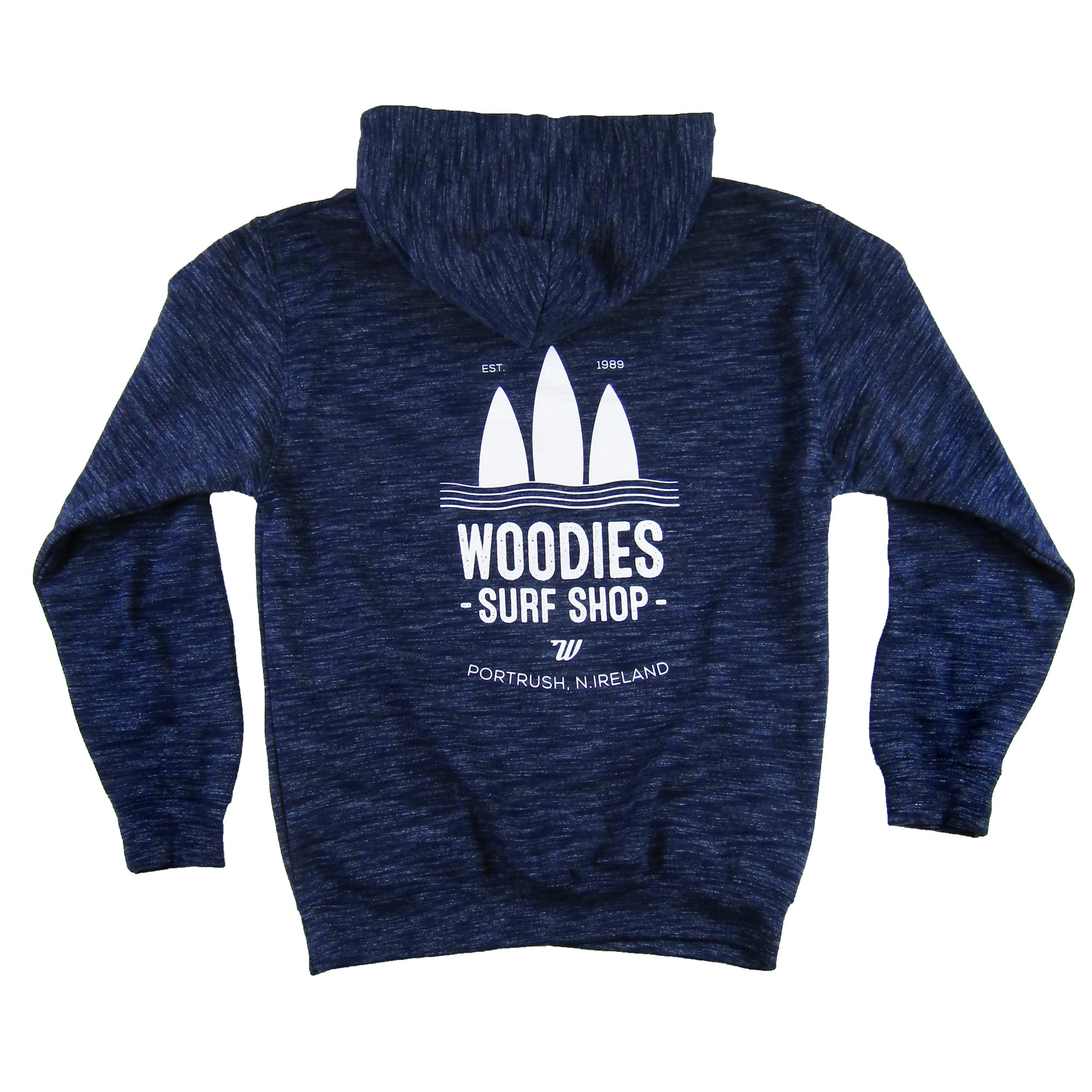 Mens - Cosmic Navy Hoody - White 3 Boards Logo
